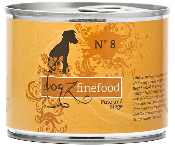 Dogz finefood No. 8 Pute & Ziege 200g
