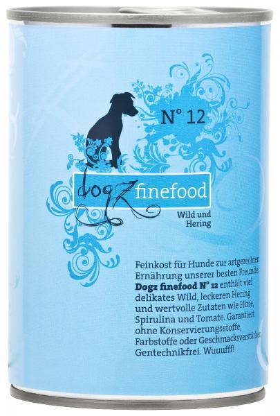Dogz finefood No. 12 Wild & Hering 400g