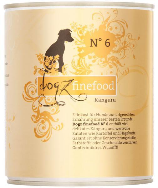Dogz finefood No. 6 Känguru 800g