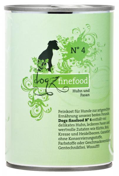 Dogz finefood No. 4 Huhn & Fasan 400g