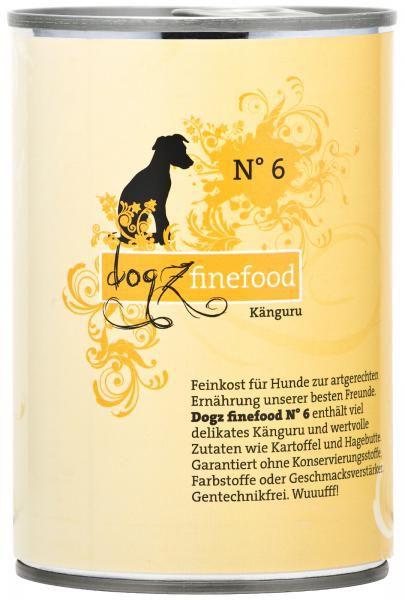 Dogz finefood No. 6 Känguru 400g