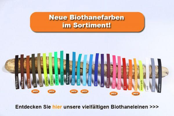 """Bellepet Biothane Verlängerungsleine """"bicolor"""" 2,80m - Grundfarbe schwarz"""