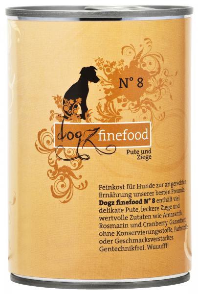 Dogz finefood No. 8 Pute & Ziege 400g
