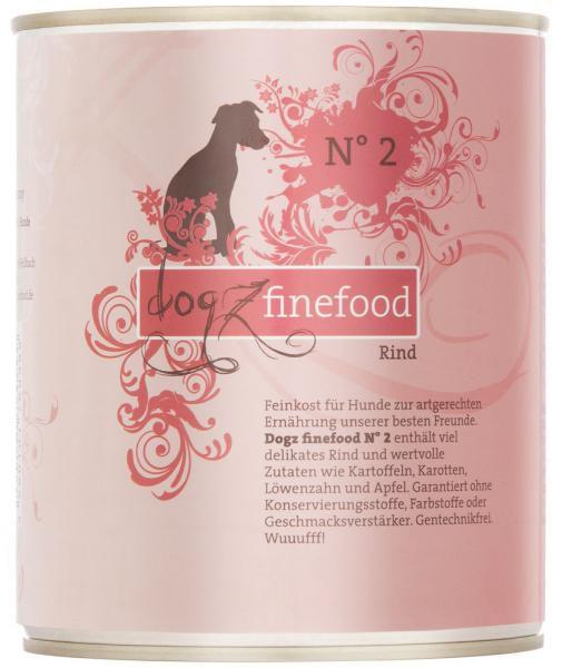 Dogz finefood No. 2 Rind 800g