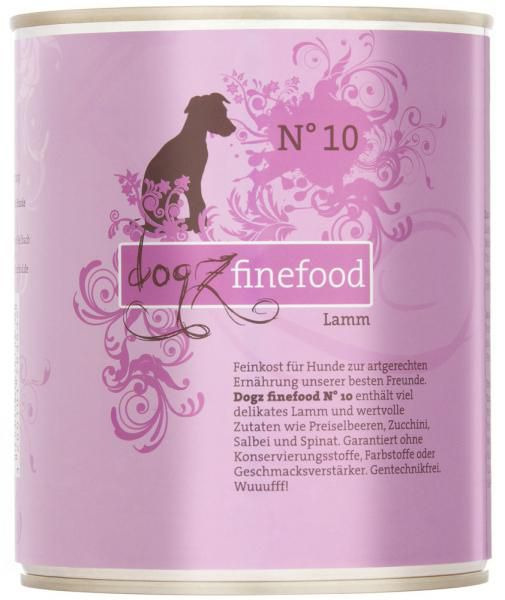 Dogz finefood No. 10 Lamm 800g
