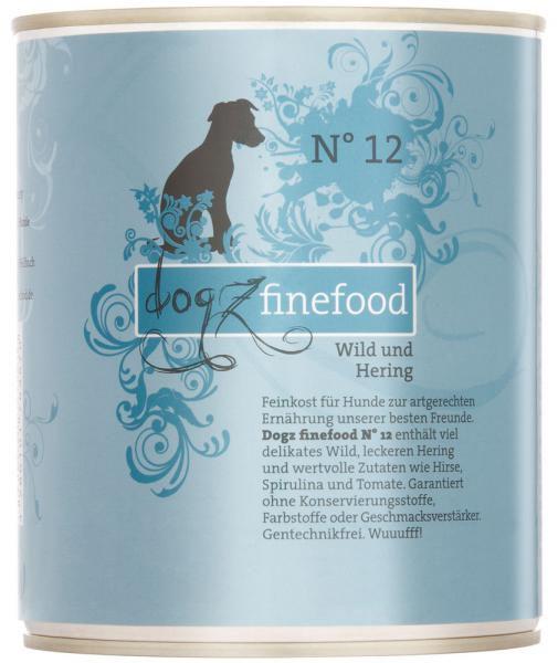 Dogz finefood No. 12 Wild & Hering 800g
