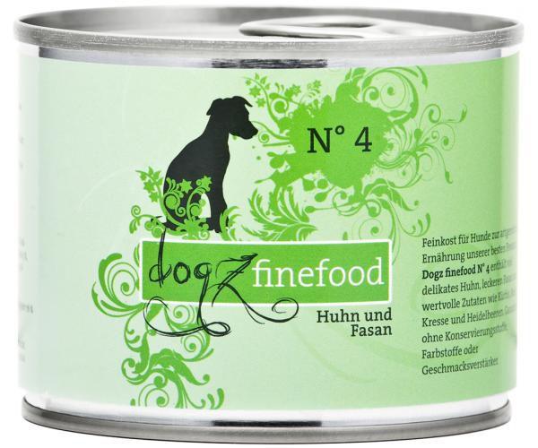 Dogz finefood No. 4 Huhn & Fasan 200g
