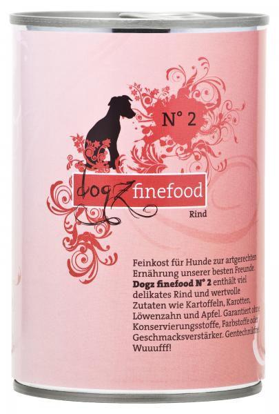 Dogz finefood No. 2 Rind 400g