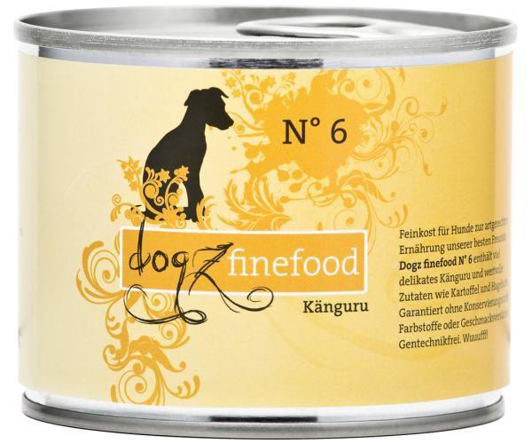 Dogz finefood No. 6 Känguru 200g