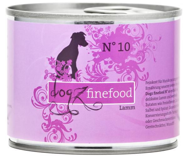 Dogz finefood No. 10 Lamm 200g