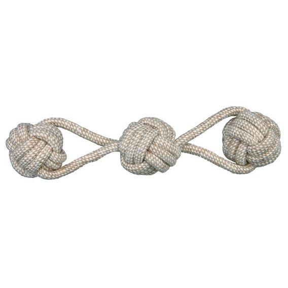 Trixie - Denta Fun Spieltau mit eingeflochtenen Bällen