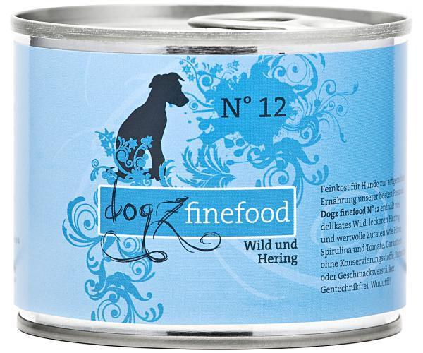 Dogz finefood No. 12 Wild & Hering 200g